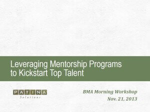 Leveraging Mentorship Programs