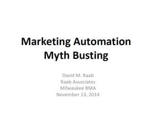 Marketing Automation Myth Busting