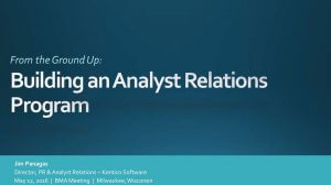 Building an Analyst Relations Program
