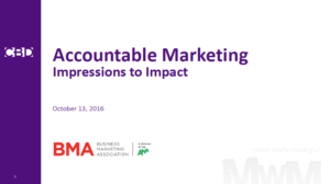 Accountable Marketing: Impressions to Impact