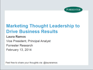 Marketing Thought Leadership