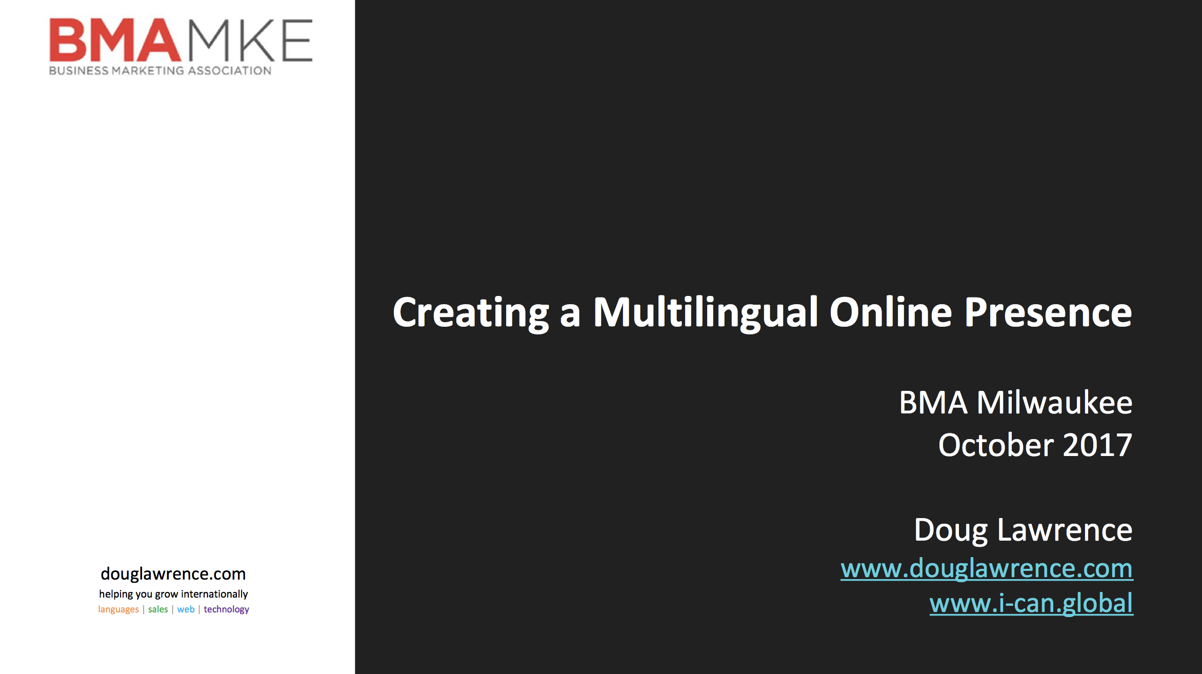 Creating a Multilingual Online Presence